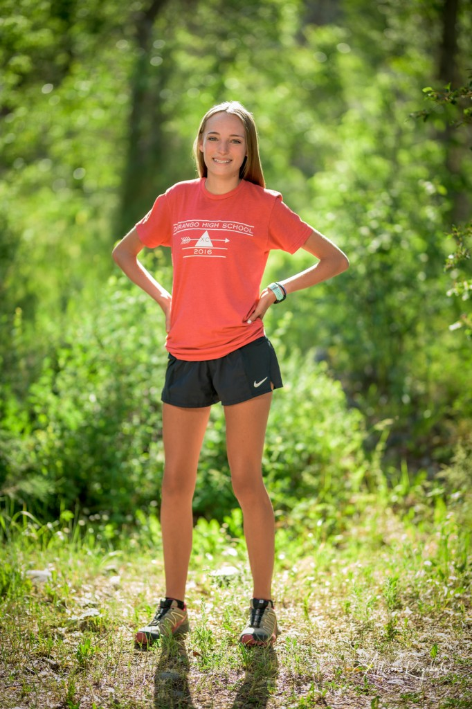 Cross country running senior pics