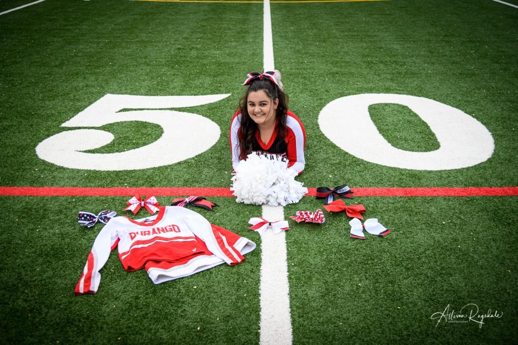 Cool cheerleading senior pictures in Durango