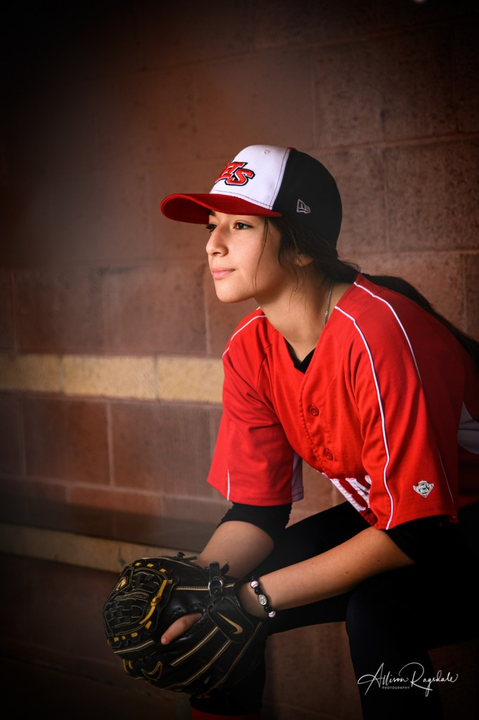 Cool softball senior pictures in Durango, CO