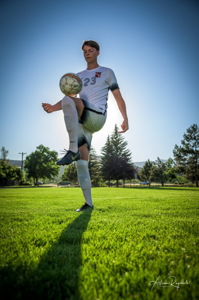 Amazing Senior Pictures on soccer field
