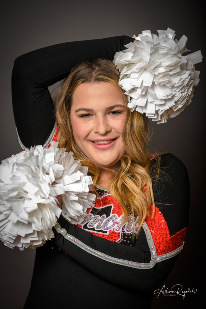Cool senior pictures with pom poms