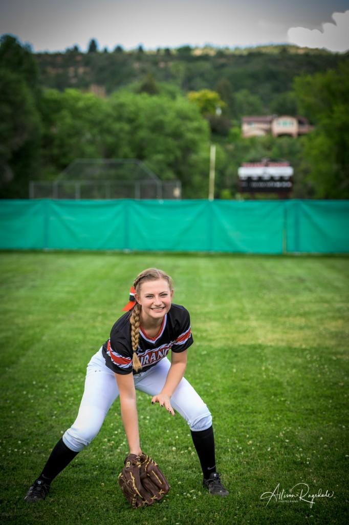 Softball highschool senior pictures
