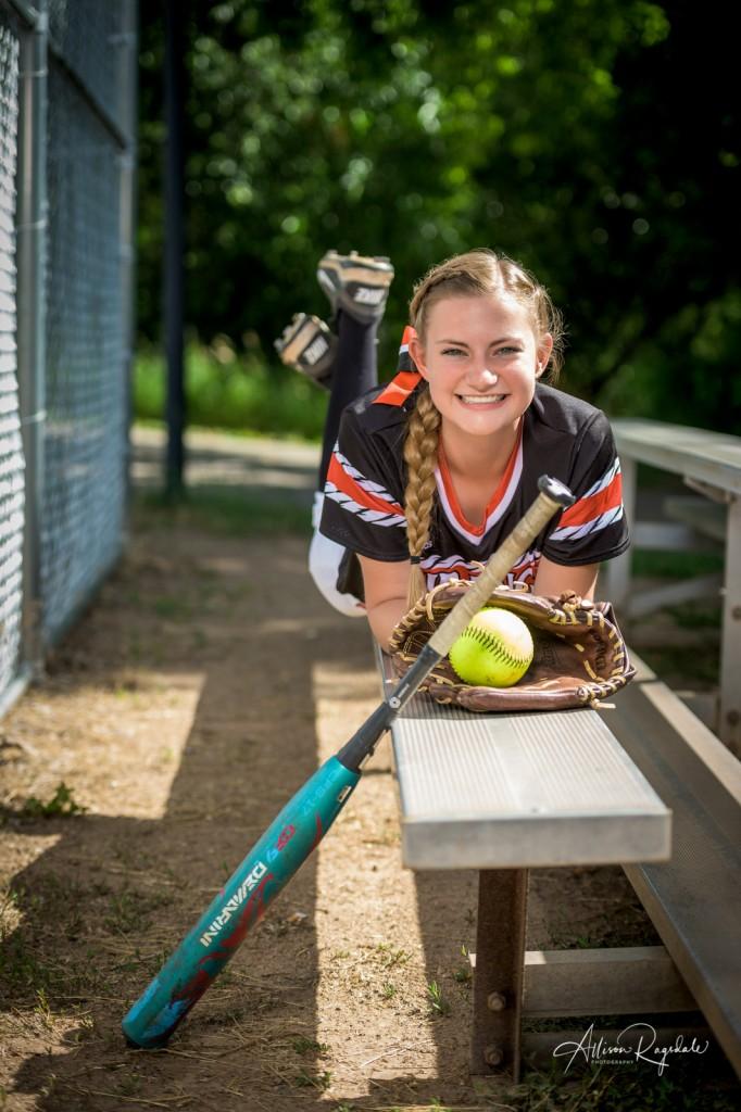 Softball portraits, highschool senior