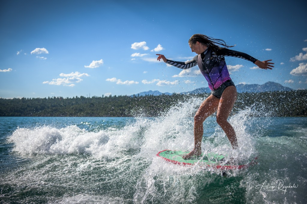 Wakeboarding senior portraits for highschool