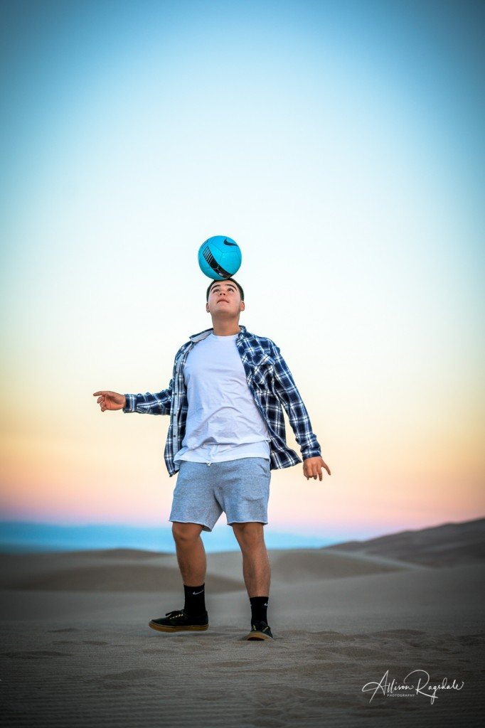 Amazing Senior Pictures with soccer ball