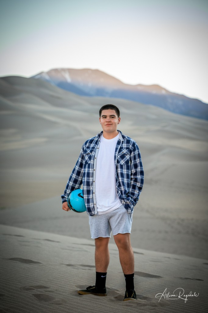 Beautiful sand dunes senior pictures