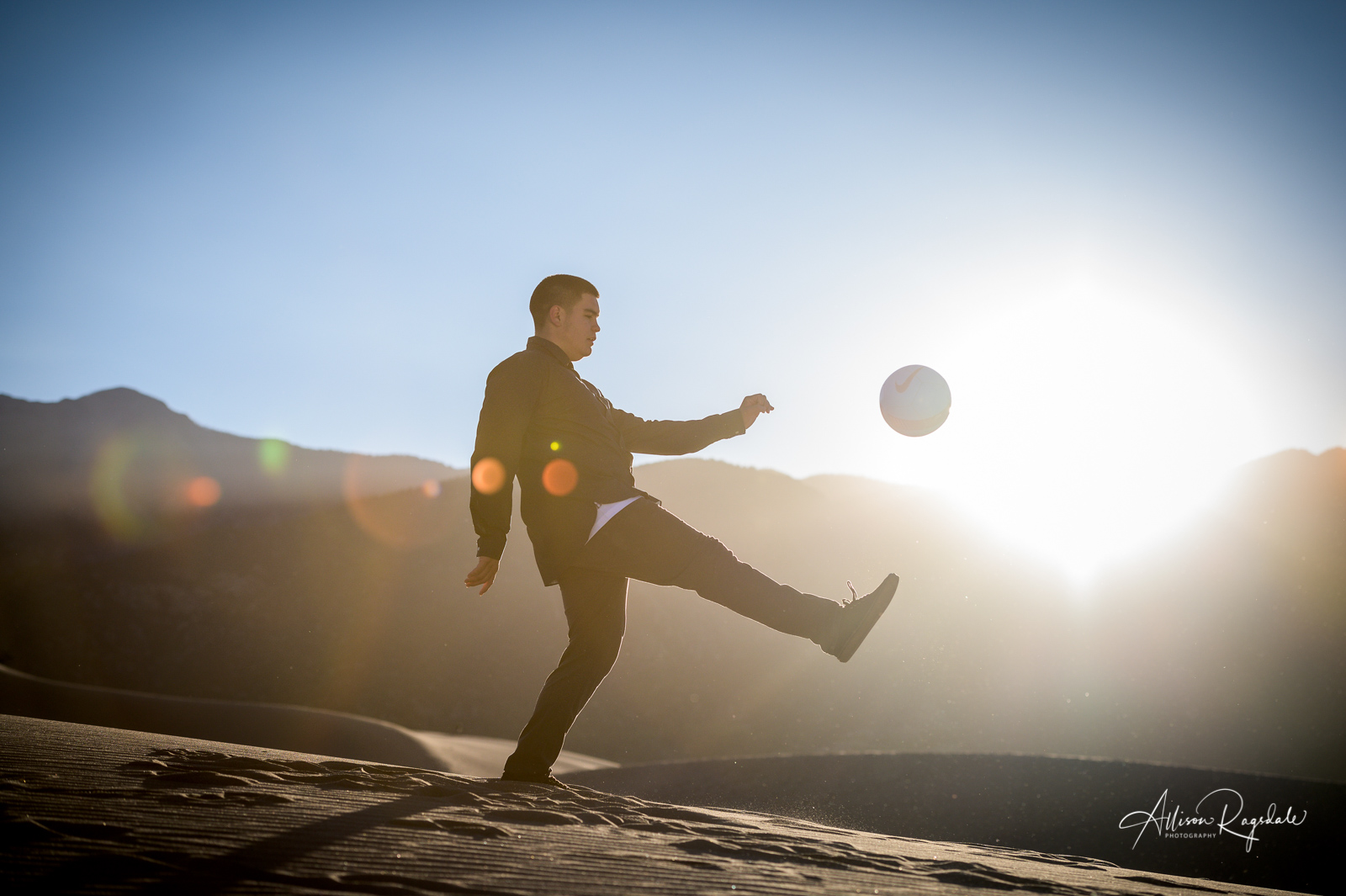 Amazing soccer senior pictures at the great sand dunes