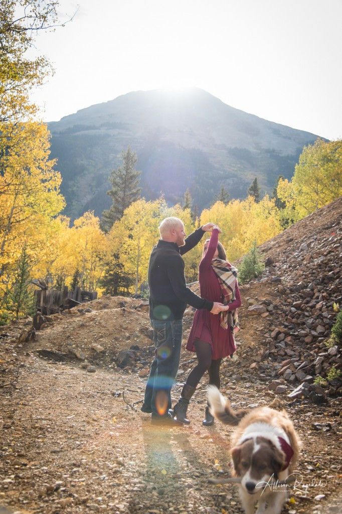 Pretty mountain engagement photos