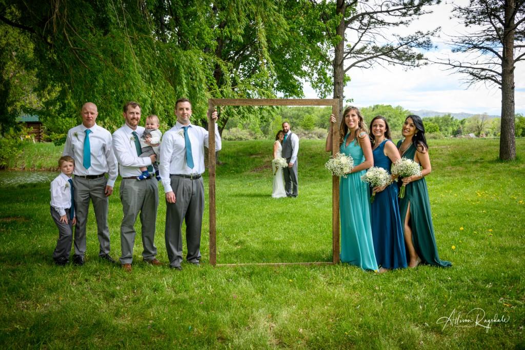 Cool frame wedding prop