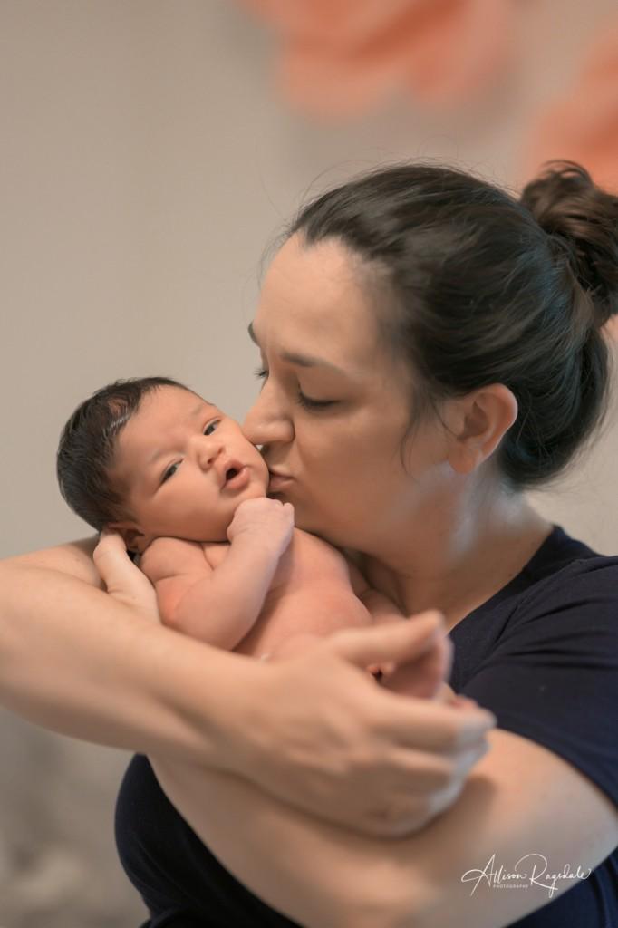 Adorable newborn photos indoors