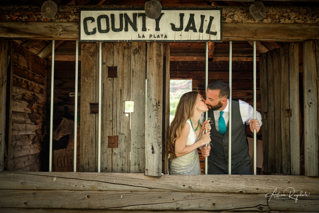 County jail wedding photography