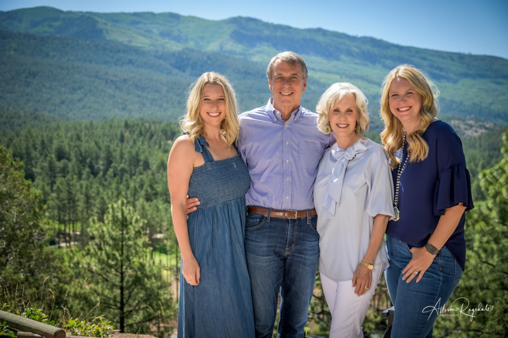 Family pictures in the mountains