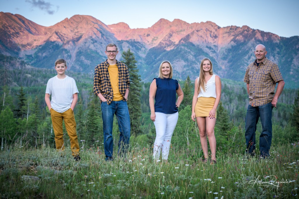 Sunset family professional photos