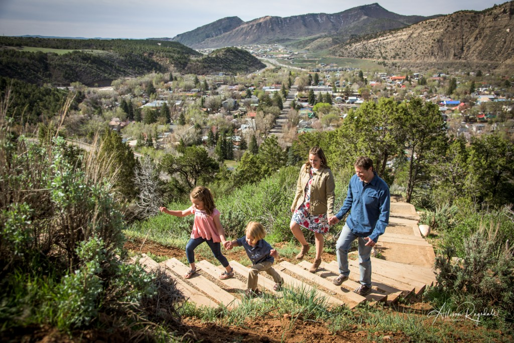 Amazing Durango family photos on sky steps