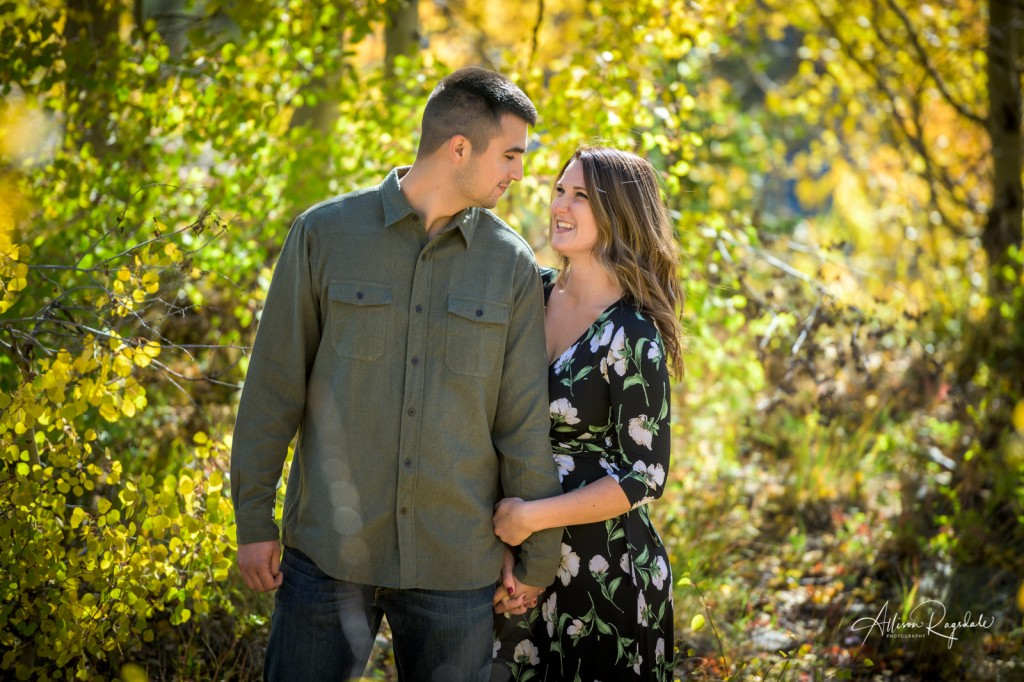 Pretty fall engagement photos
