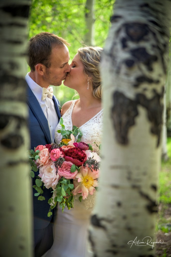 Aspen tree wedding photos
