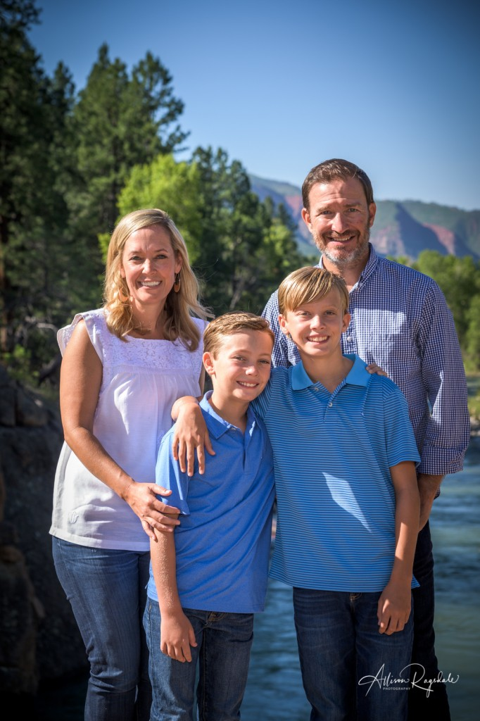 Gorgeous family pictures, Baker's Bridge, Colorado