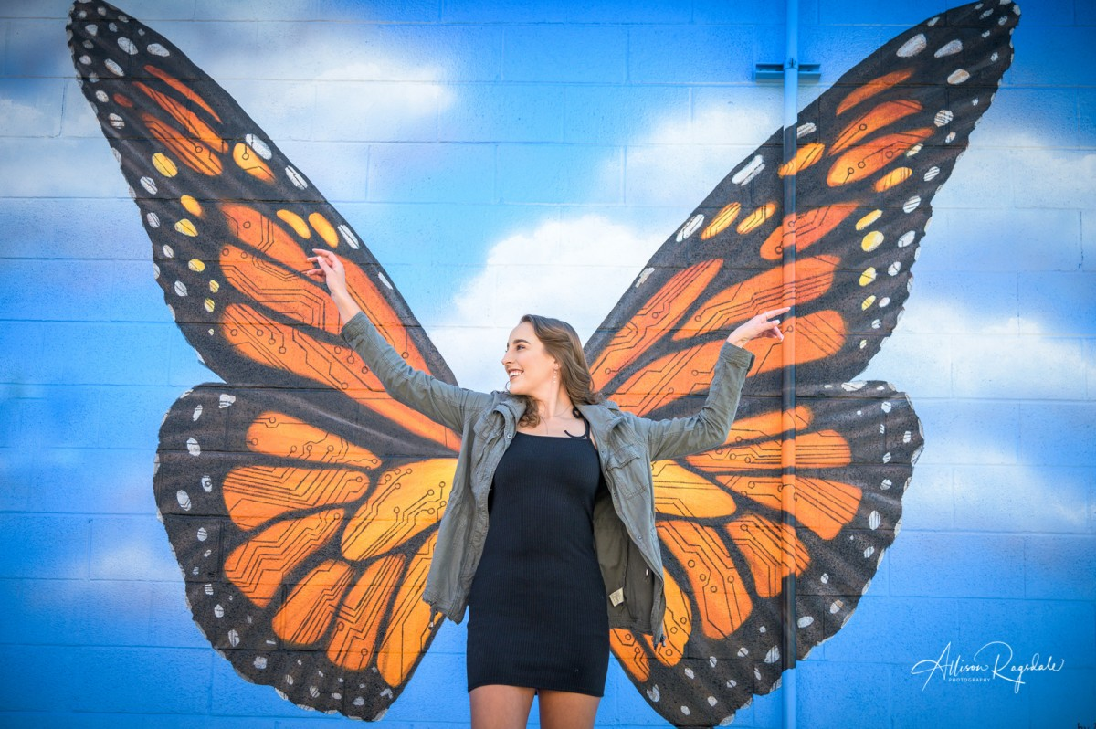 Senior Pictures with butterfly