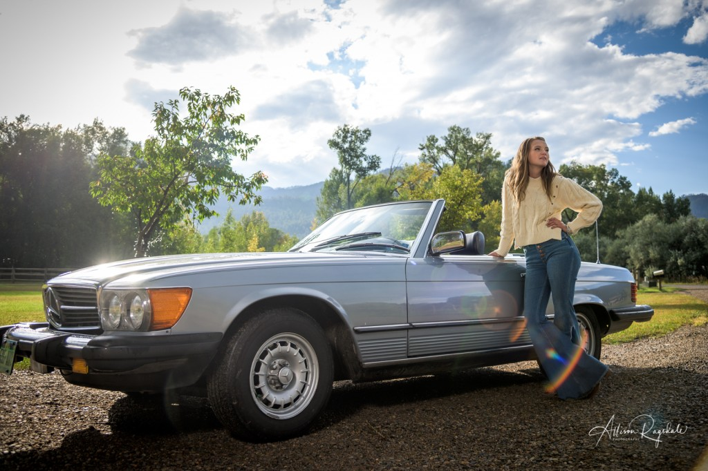 Senior pictures with old cars