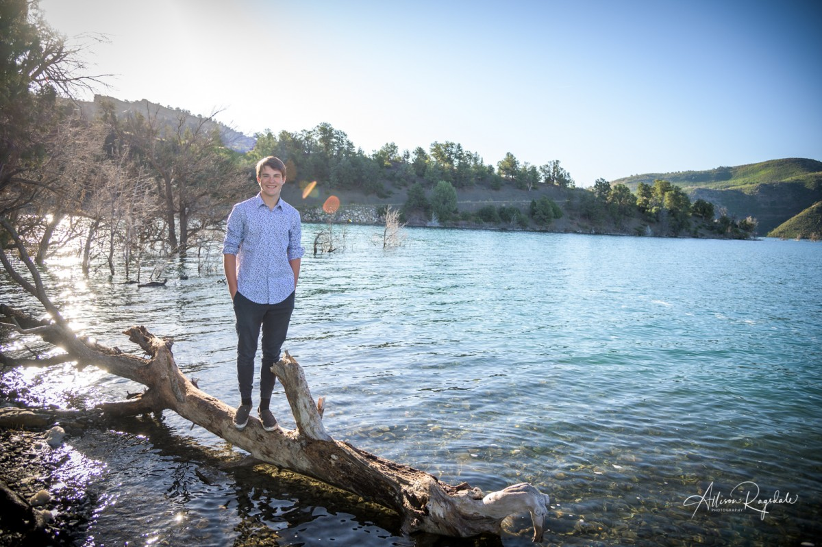 Senior pictures at Durango lake