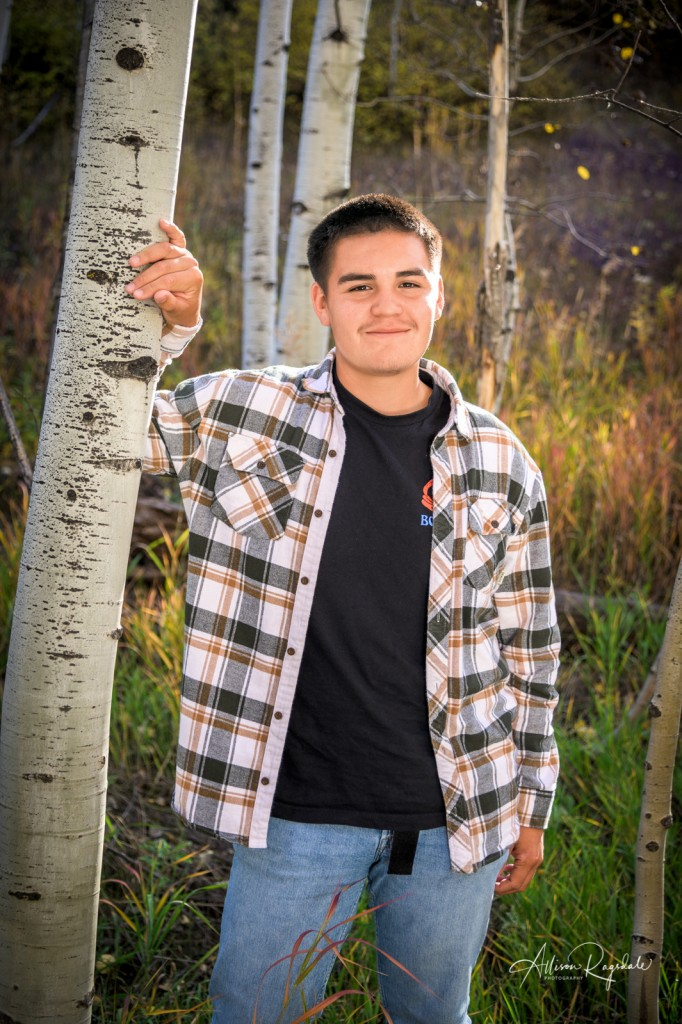 Aspen tree senior pictures