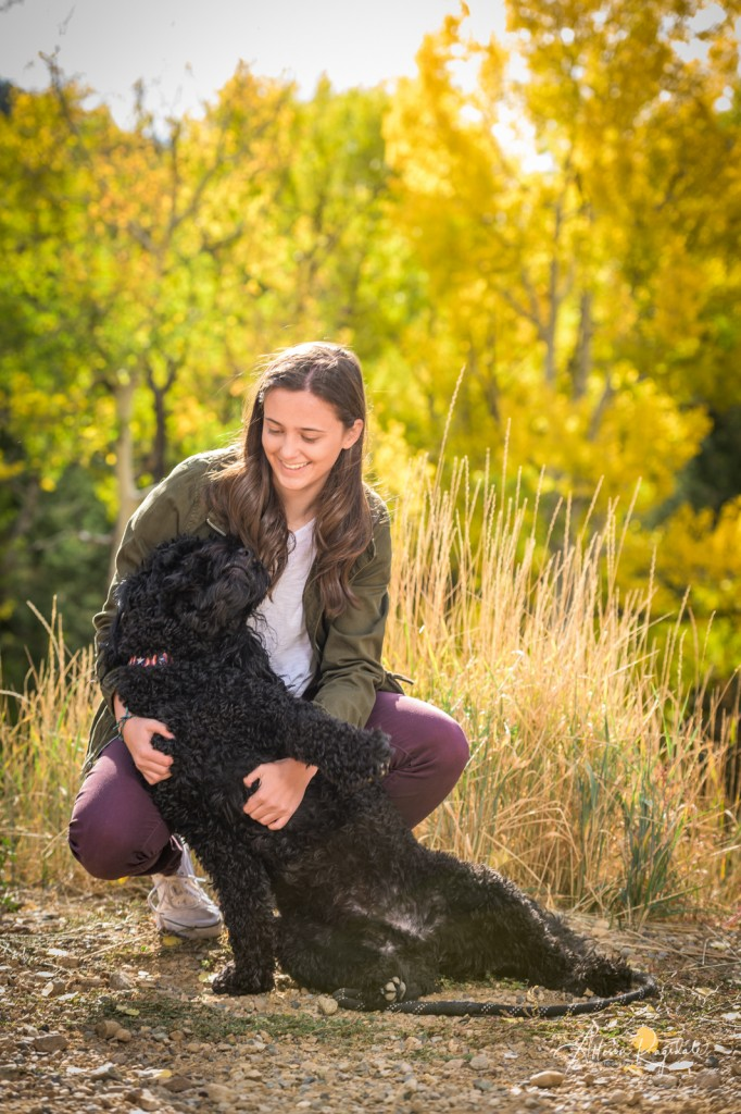 Senior photos with dogs