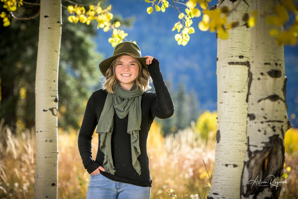 Fall senior pictures in mountains
