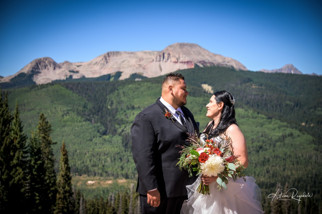 Mountain wedding photography in Durango