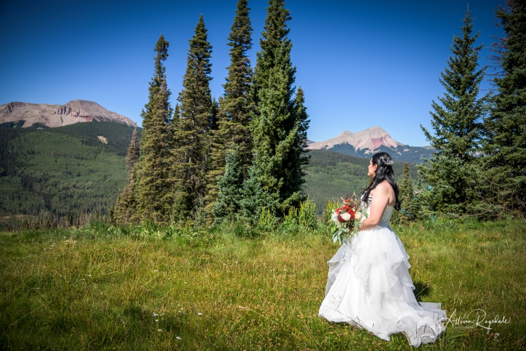 Mountain photos with bride