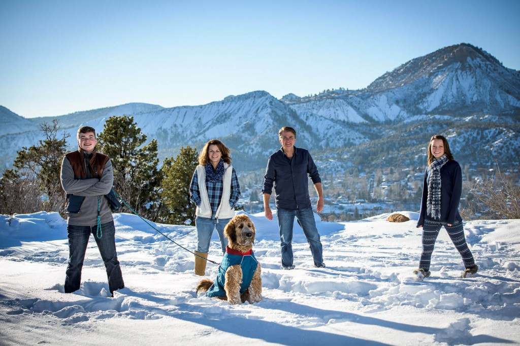 Snow Family Photography near Durango Colorado