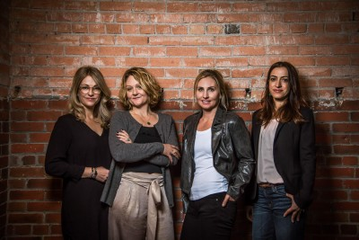 Headshot of an all female team