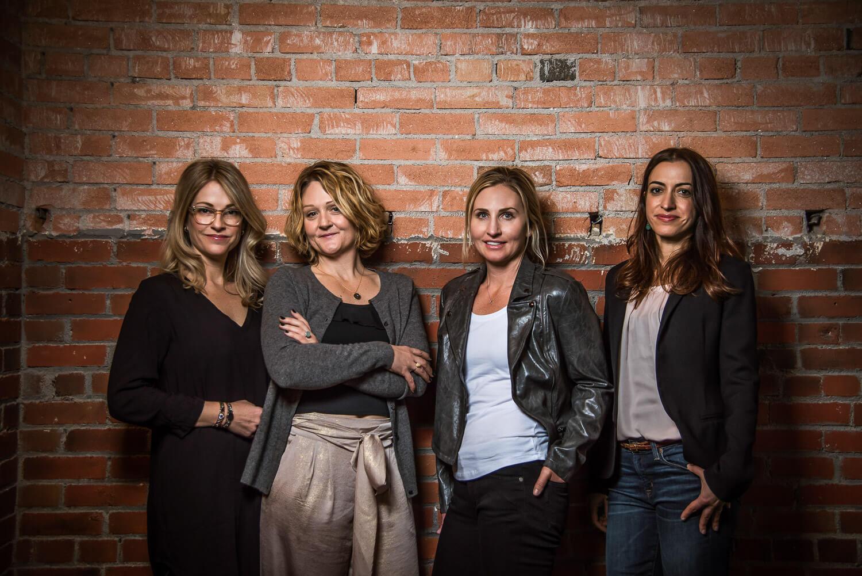 Headshot of an all female team