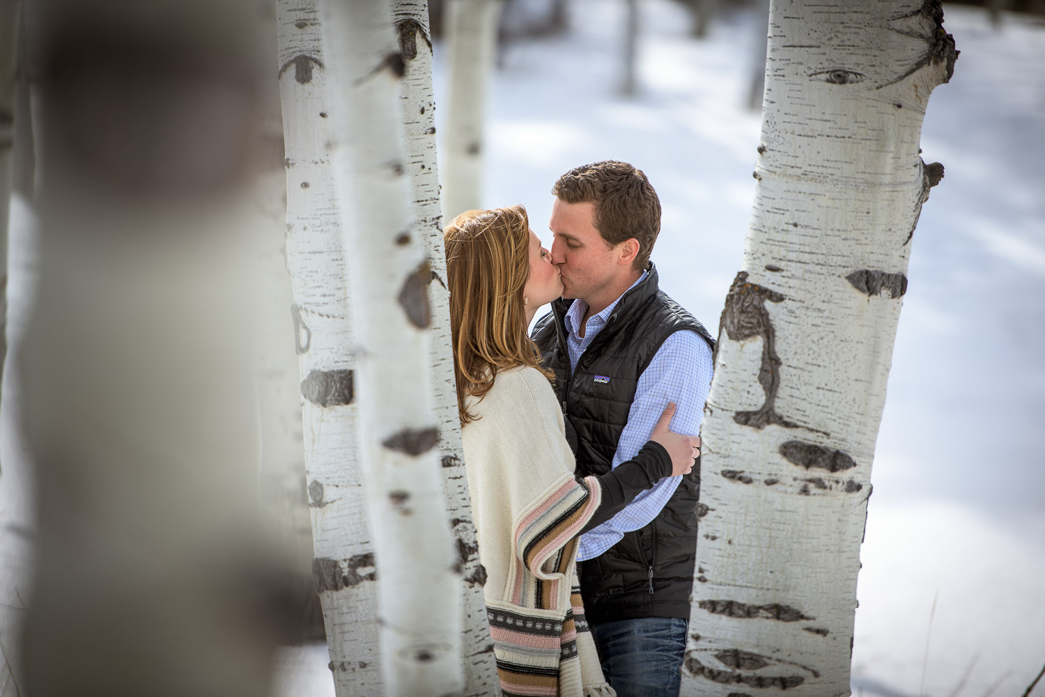 Winter Durango Colorado Engagement Photos