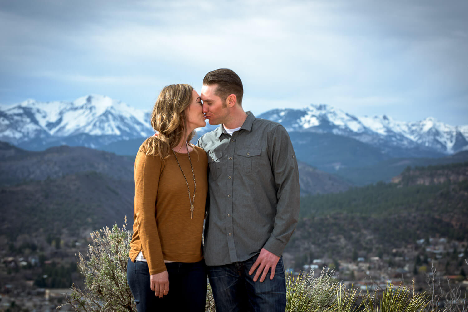 Engagement Photos in the Mountain Durango Colorado
