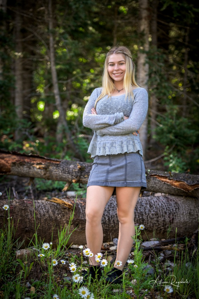 Cool forest senior pics