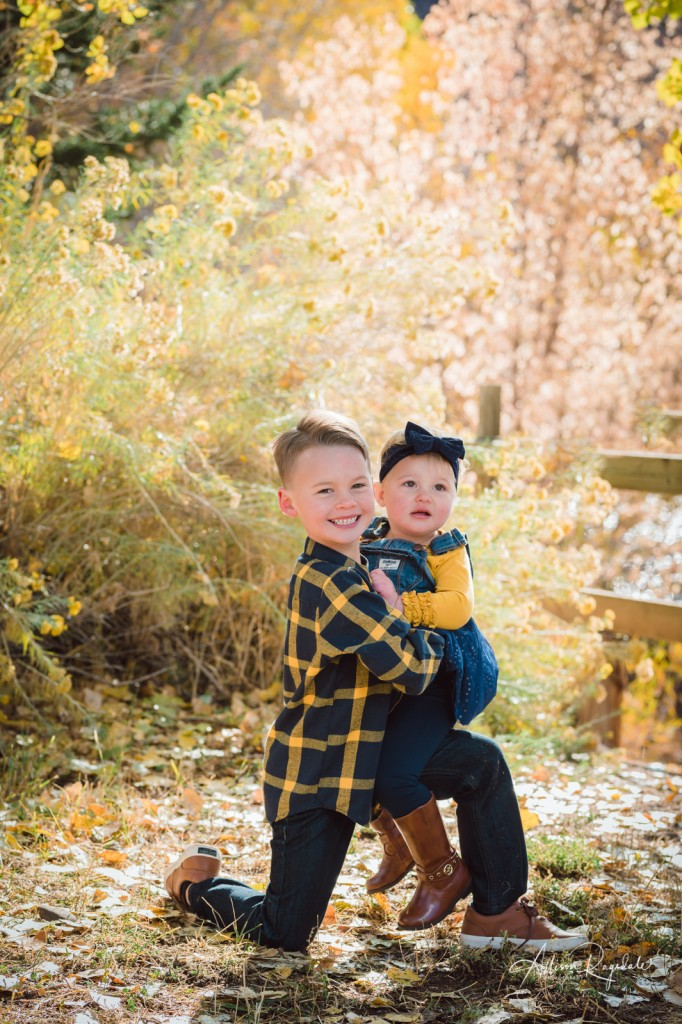 Fall sibling photos