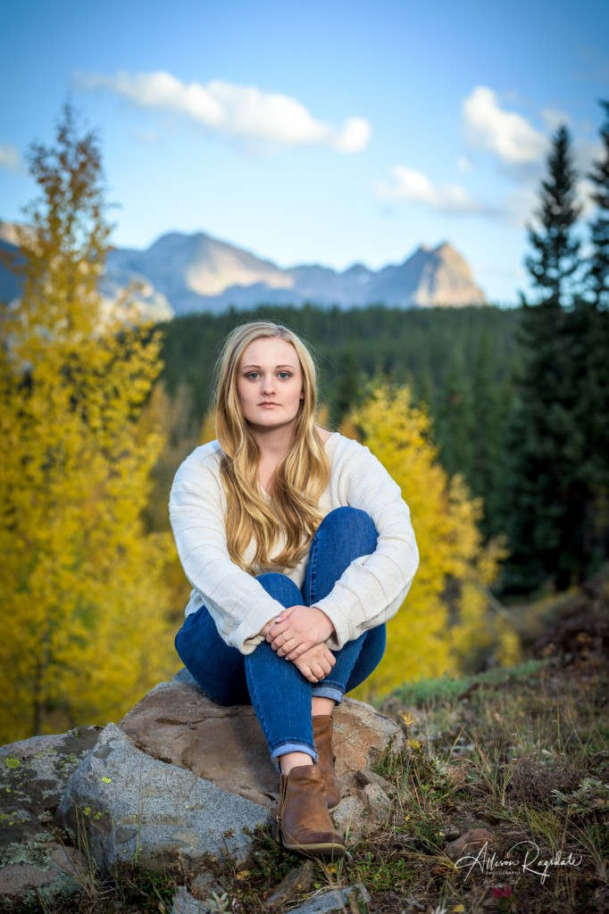 pretty mountain senior pics