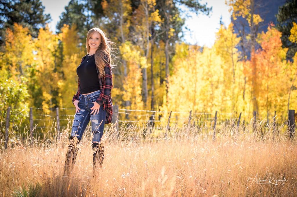 Fall senior pictures in Durango