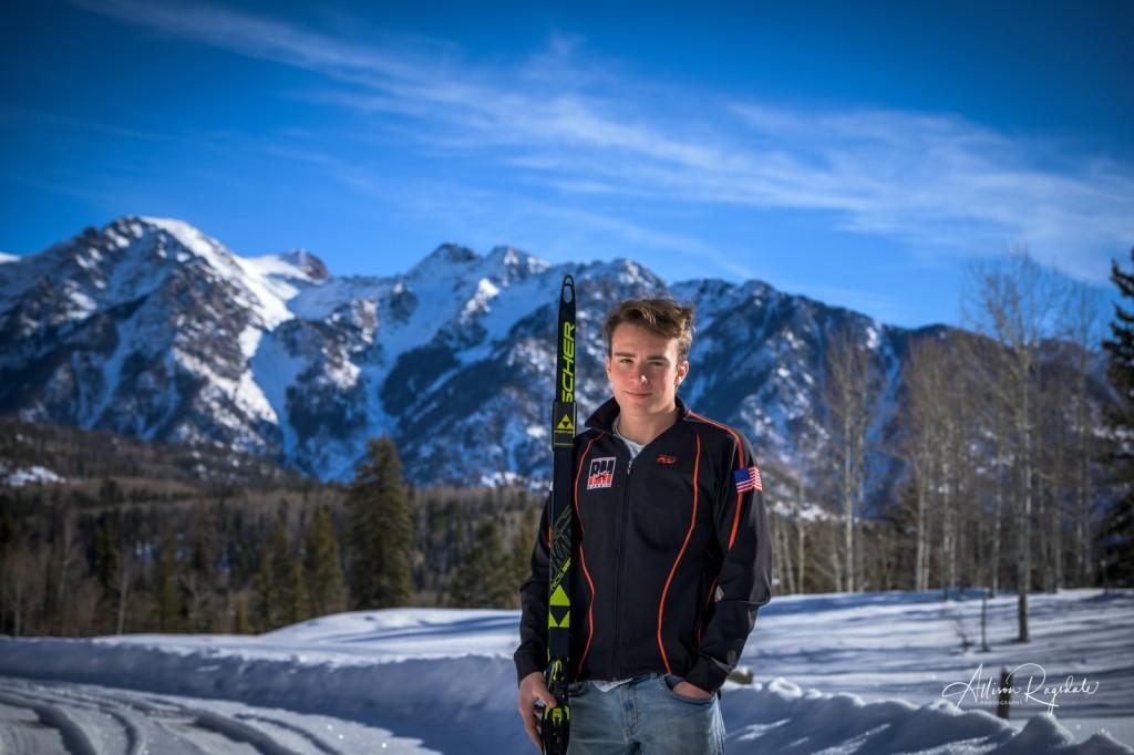 Nordic skiing senior pictures