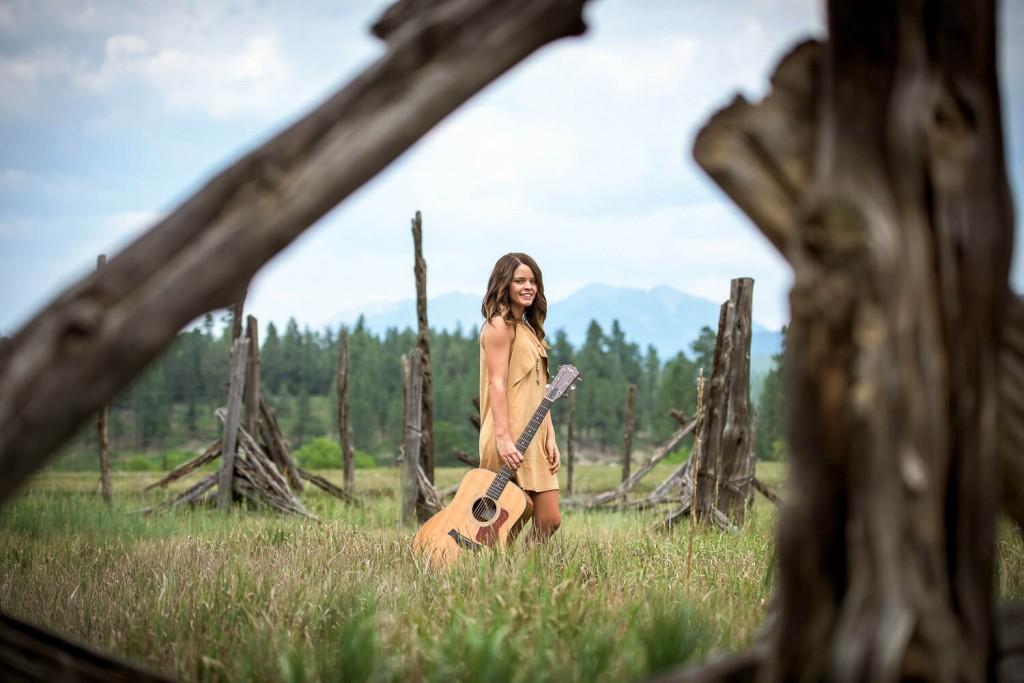 Senior picture outside in Durango, Colorado