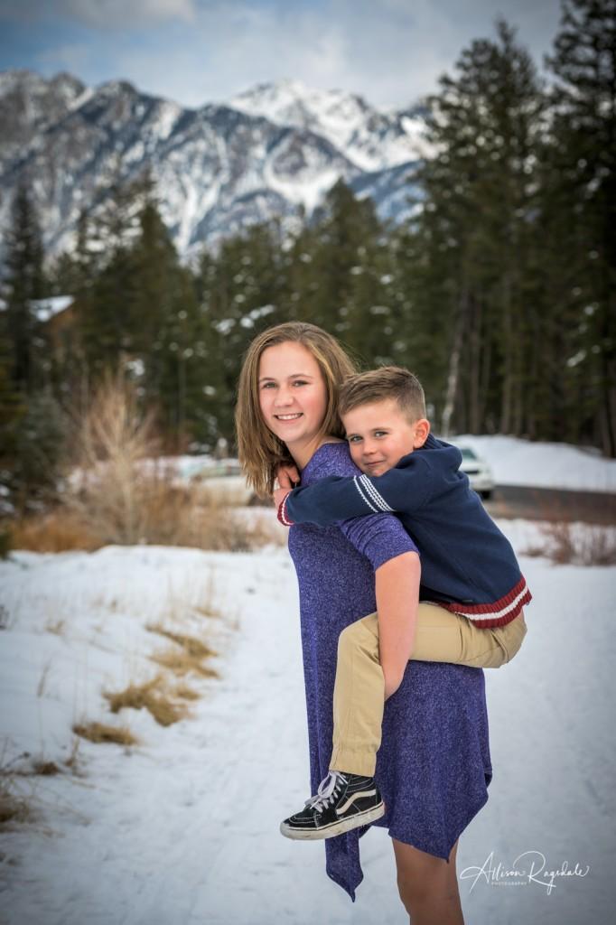 Sibling winter photos