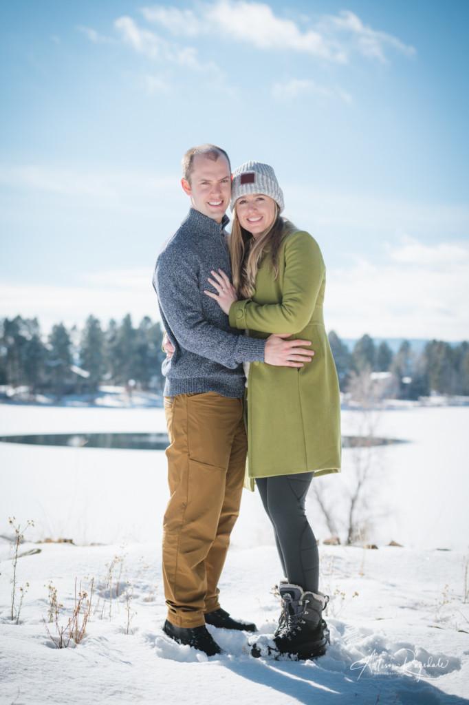 Winter engagement photos in Durango