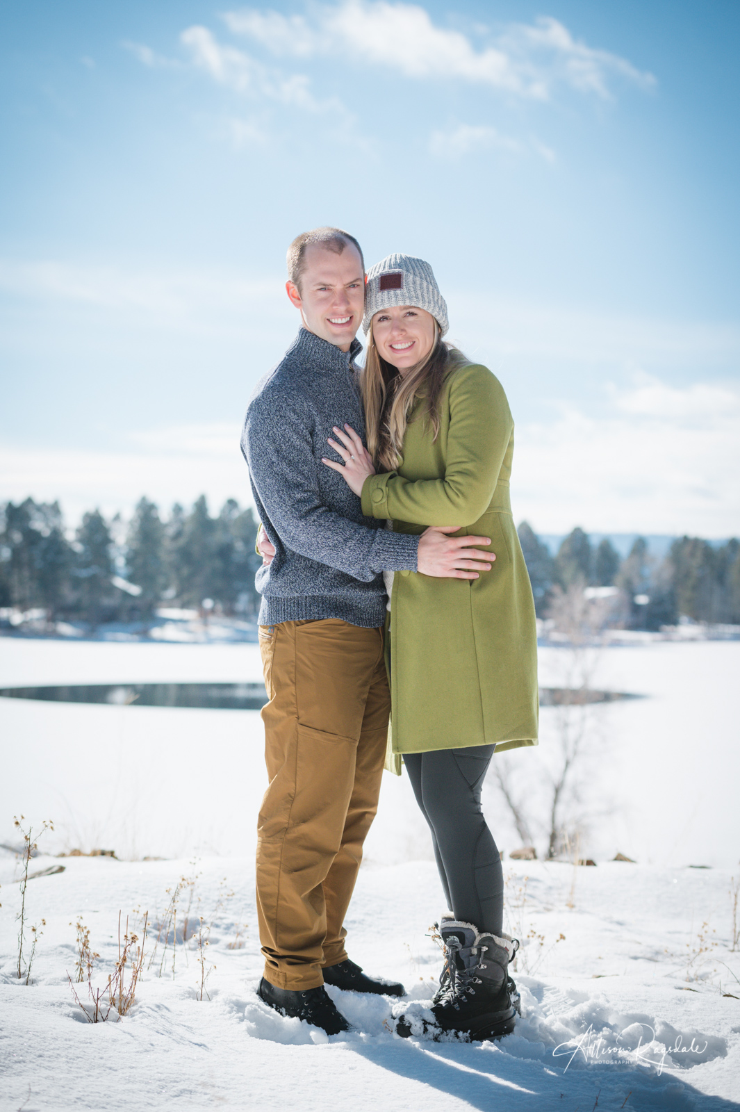 Winter engagement photos in Durango