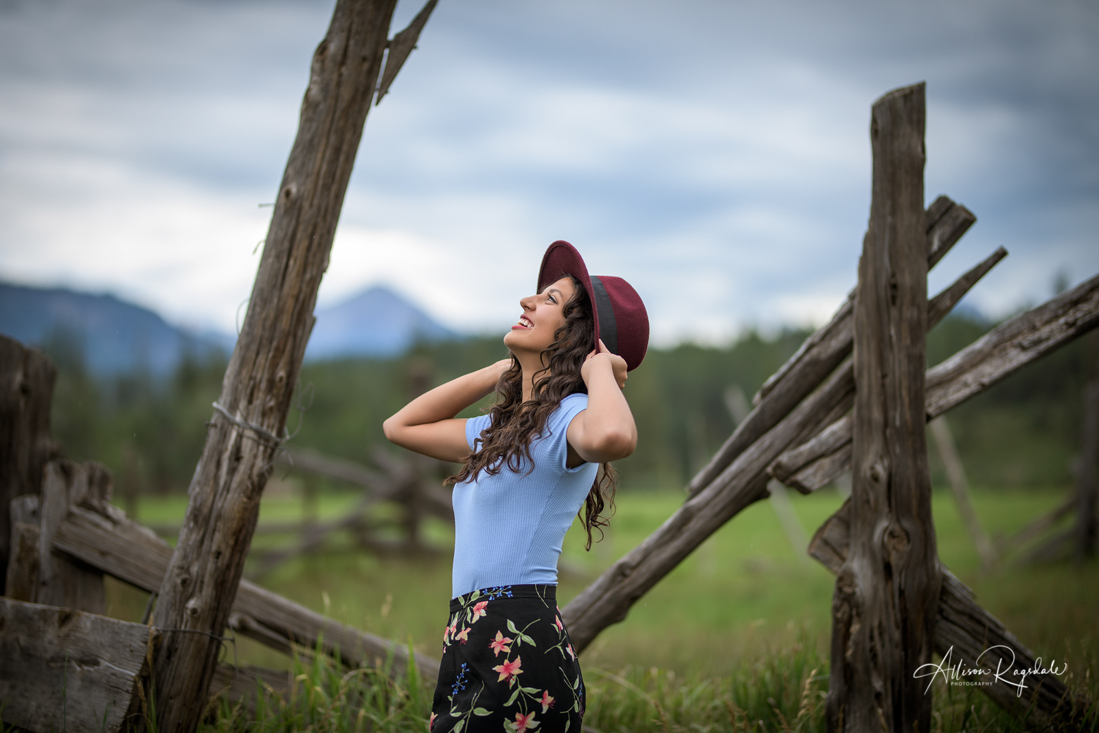 Senior Portraits with Hats in Durango, Colorado