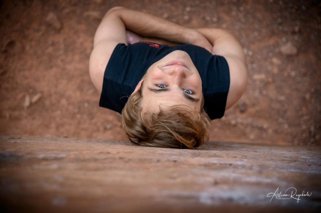 Awesome senior climbing photos