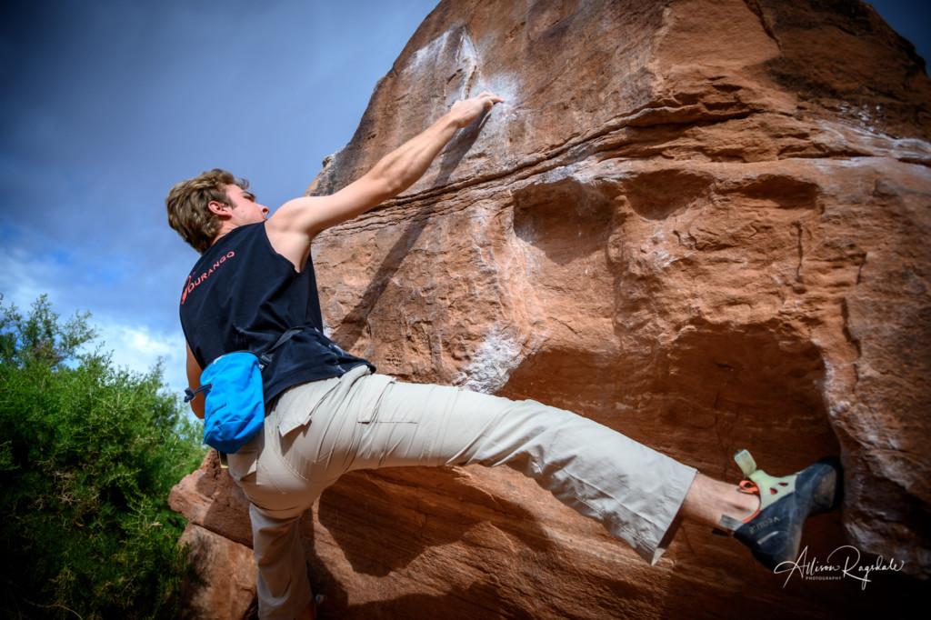 Utah desert climbing photography