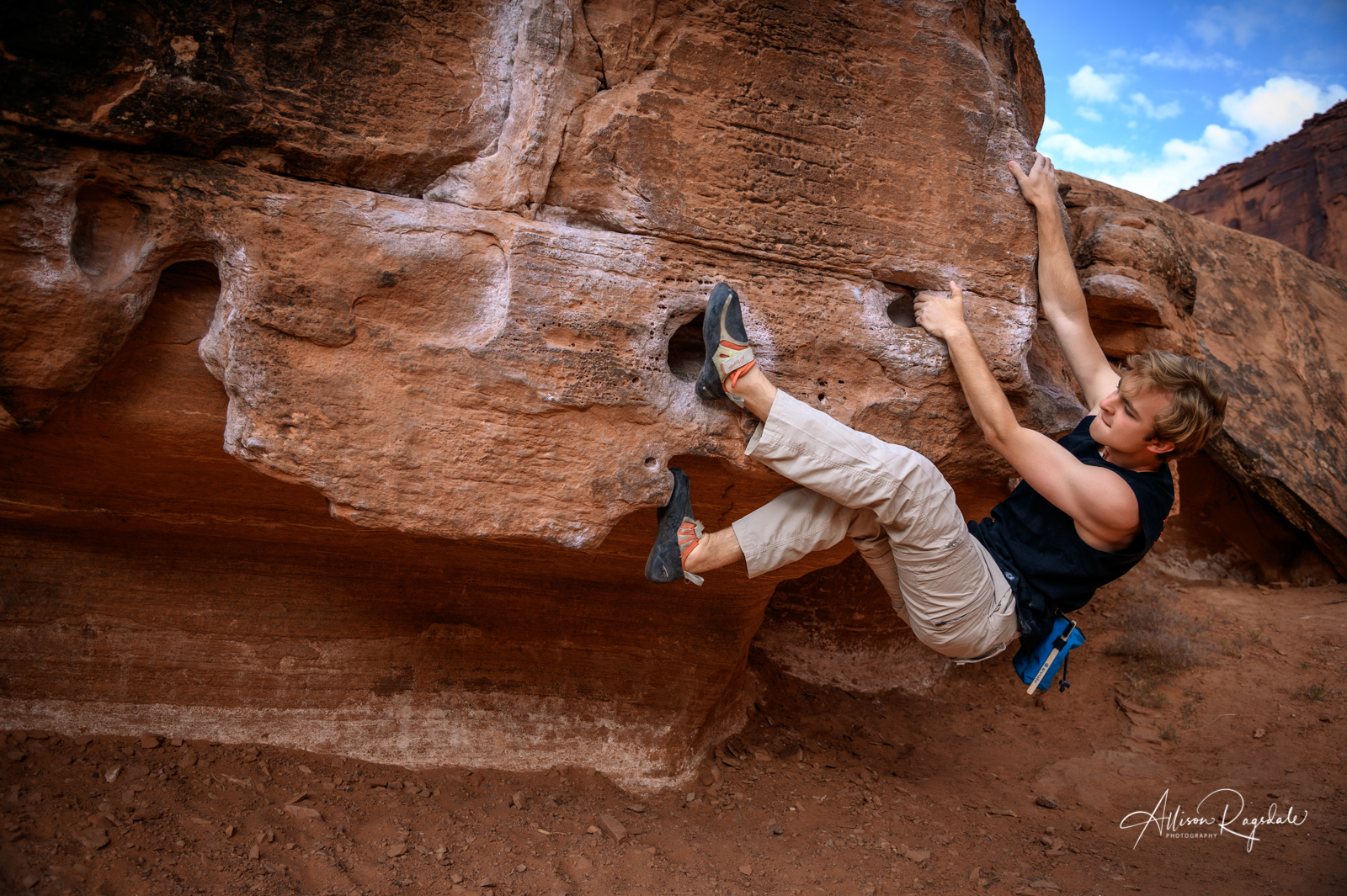 Climbing photos in Moab