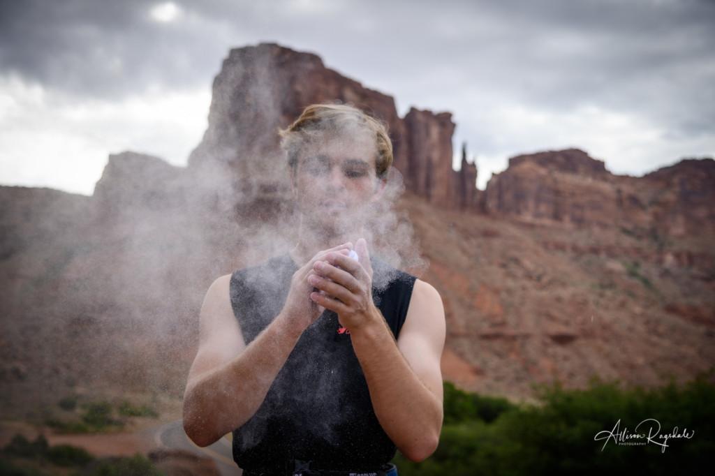 Climbing in Moab, Utah