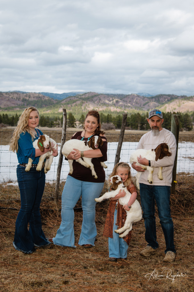 Family photos with goats