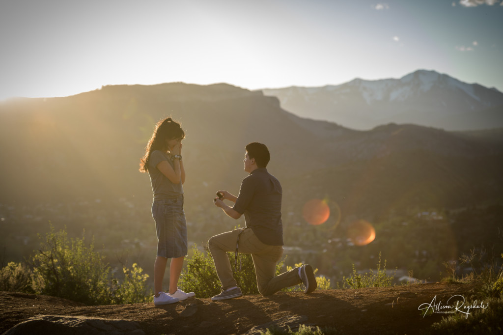 Proposal photos in mountains